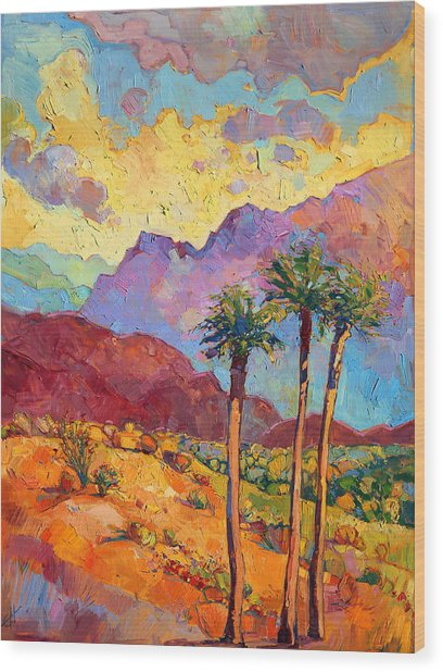 Indian Wells Wood Print