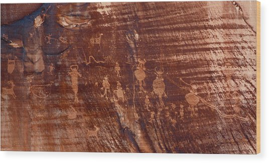 Indian Writing In Moab  Wood Print