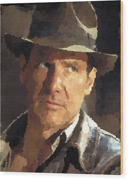 Indiana Jones Wood Print