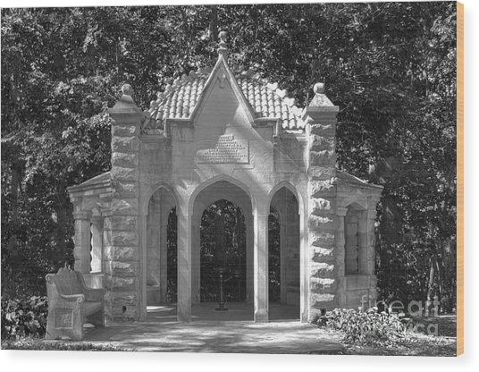 Indiana University Rose Well House Wood Print by University Icons