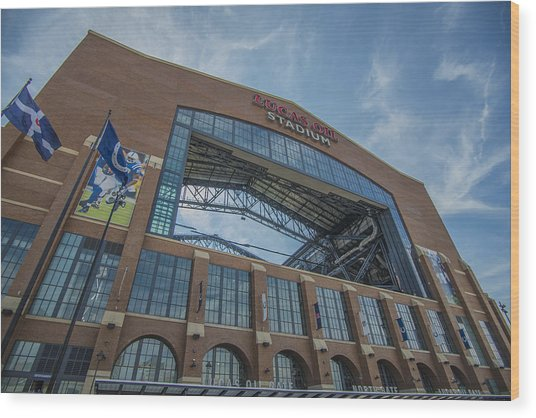 Indianapolis Colts Lucas Oil Stadium 3260 Wood Print