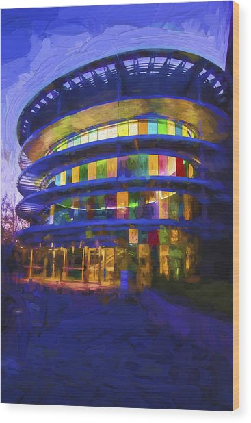 Indianapolis Indiana Museum Of Art Painted Digitally Wood Print