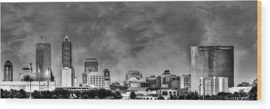 Indianapolis Indiana Skyline 0762 Wood Print