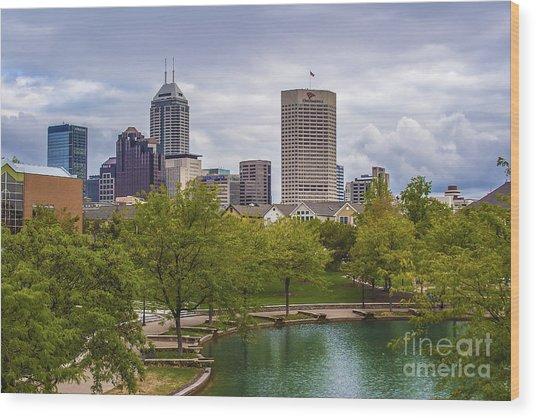 Indianapolis Indiana Skyline 1000 Wood Print
