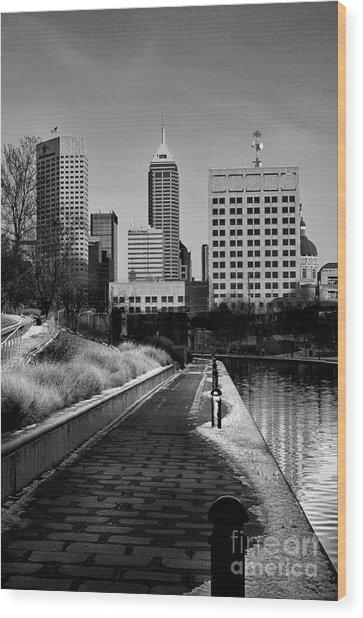 Indianapolis Skyline 21 Wood Print