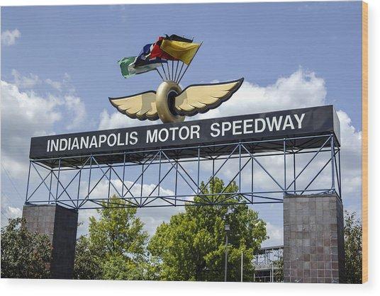 Indianapolis Speedway Wood Print