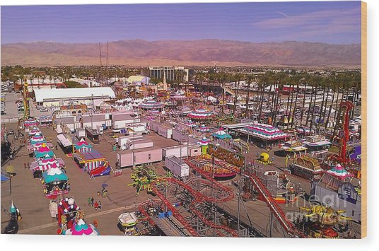 Indio Fair Grounds Wood Print