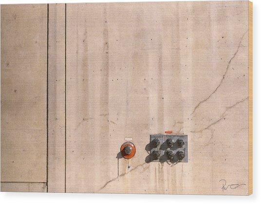 Industrial 6 Wood Print by Stephen Prestek