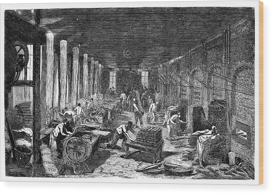 Industrial Bakery Wood Print by Science Photo Library