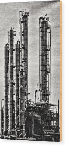Industrial Scape In New Jersey Wood Print