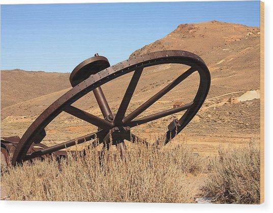 Industrial Wheel Wood Print