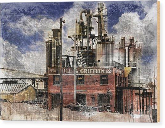 Industrial Work Wood Print