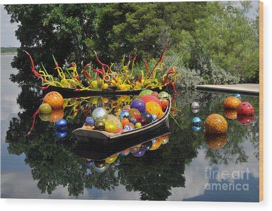 Infinity Boats Wood Print
