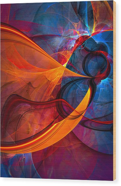 Infinity - Abstract Art Wood Print