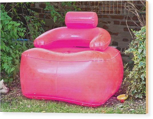 Inflatable Chair Wood Print