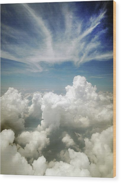Inflight Sky Shot Of The Cotton-like Wood Print by Melindachan