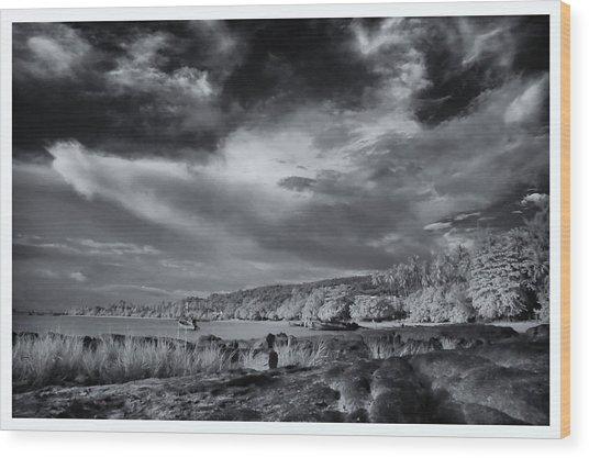 Infrared In Krabi Wood Print by River Engel