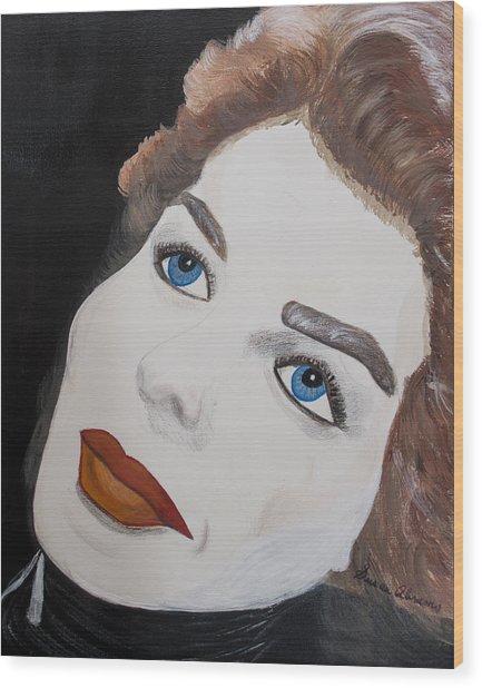 Ingrid From Casa Blanca Wood Print