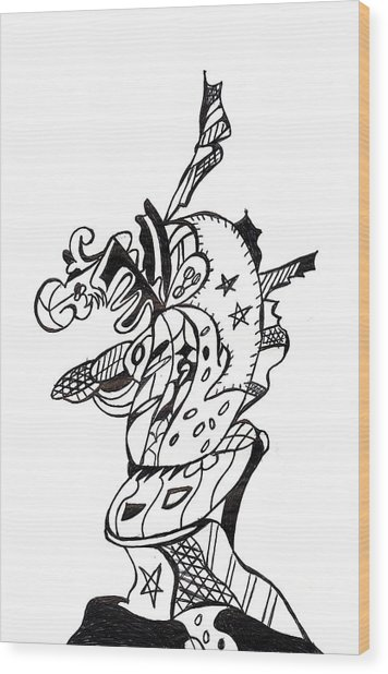 Ink 7 Wood Print