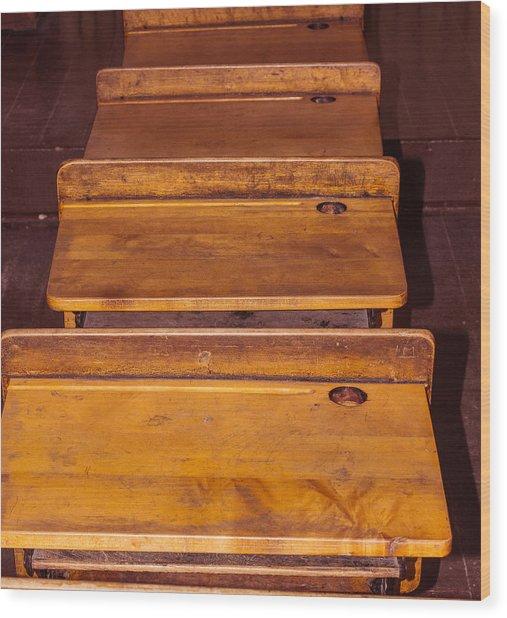 Inkwell Desk Wood Print