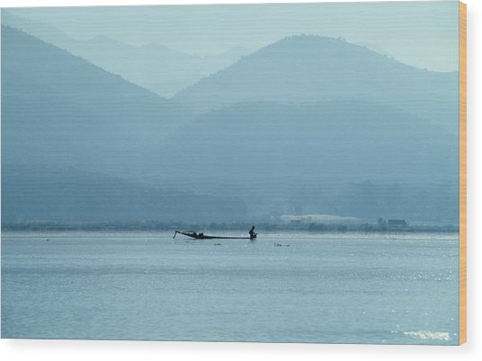 Inle Lake Wood Print