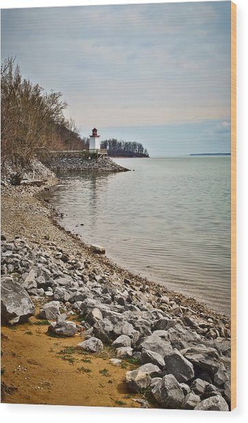 Inlet Lighthouse 3 Wood Print