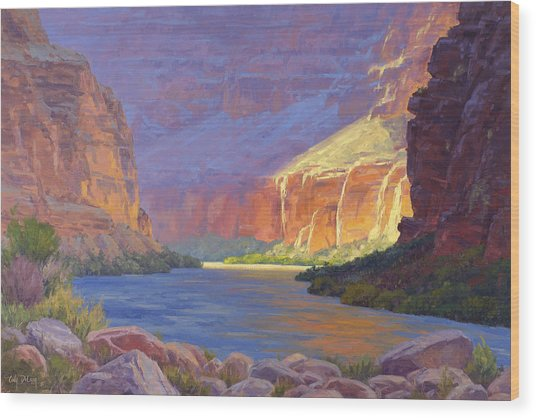 Inner Glow Of The Canyon Wood Print