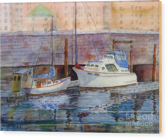 Inner Harbour Victoria Wood Print