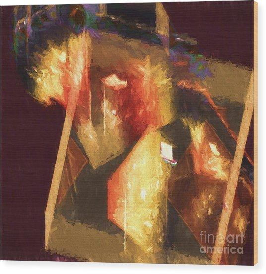 Inner Turmoil Digital Oil Painting Wood Print