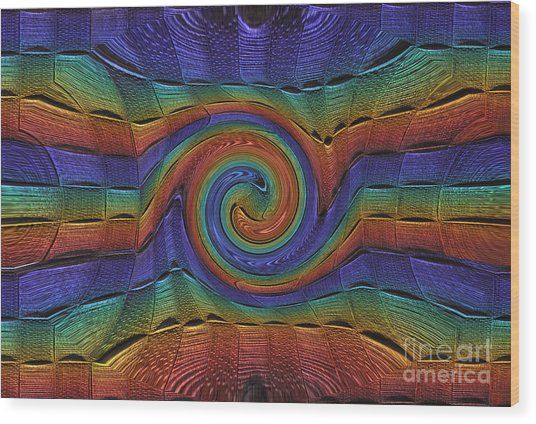 Innie Twirl Multi Landscape Wood Print