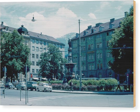 Innsbruck Austria 3 1962 Wood Print by Cumberland Warden