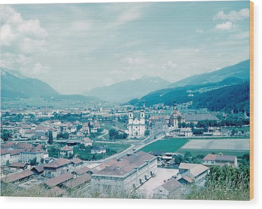 Innsbruck Austria 4 1962 Wood Print by Cumberland Warden