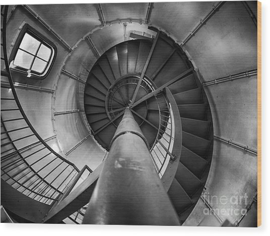 Inside Edgartown Lighthouse 1 Wood Print