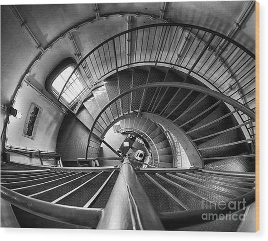 Inside Edgartown Lighthouse 3 Wood Print