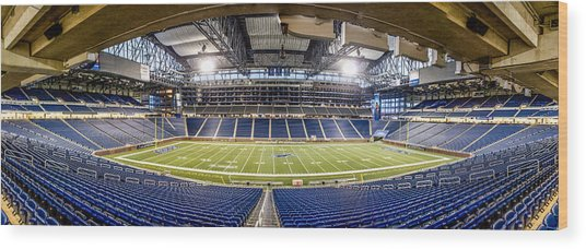 Inside Ford Field Wood Print