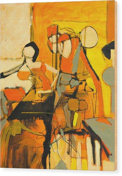 Inside Orange Wood Print by Jennifer Croom