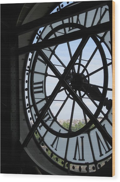 Inside Out Clock Wood Print by Stephanie Hunter