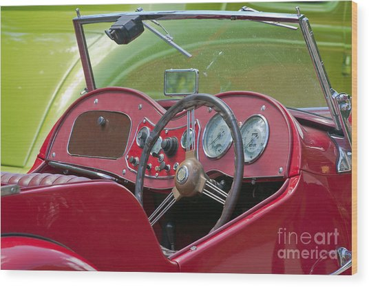 Red Mg-td Convertible  Wood Print