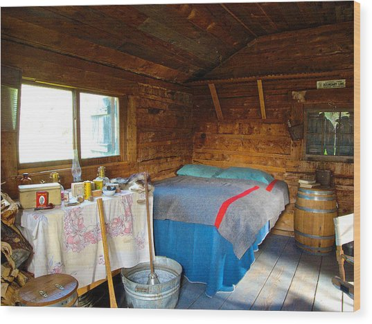 Inside Savage River Cabin In Denali Np-ak   Wood Print