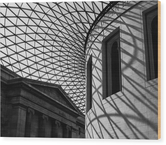 Inside The Gallery Wood Print