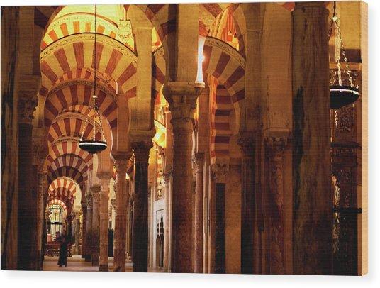 Inside The Mezquita Wood Print