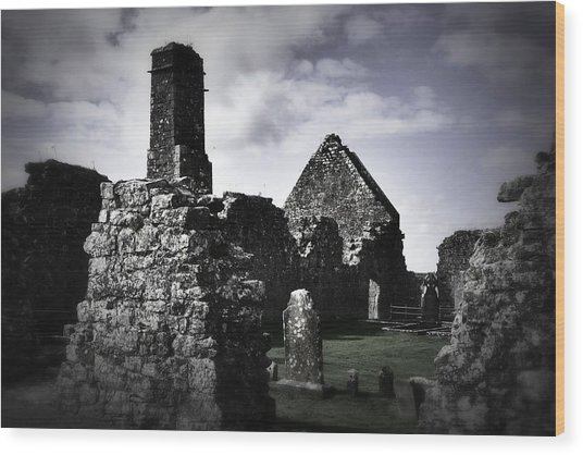 Inside The Walls At Clare Abbey II Wood Print