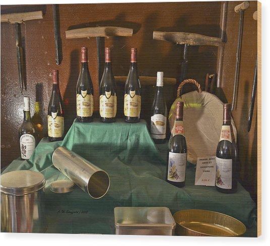 Inside The Wine Cellar Wood Print