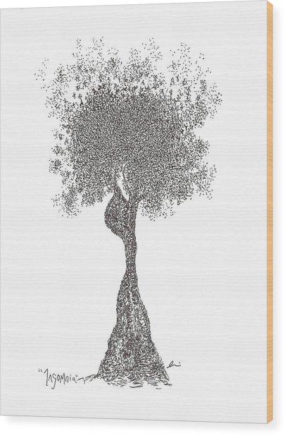 Insomnia Wood Print