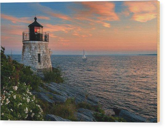Inspirational Seascape - Newport Rhode Island Wood Print