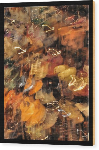 Instrument Abstract  Wood Print by Edward Hamm