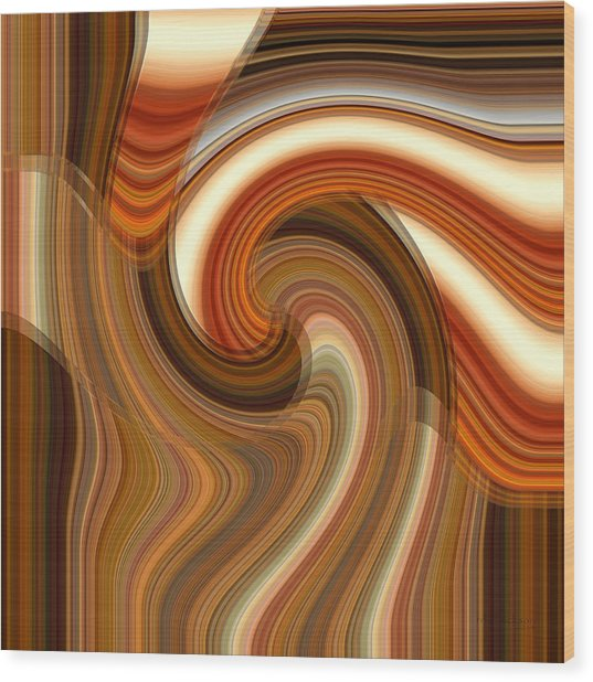 Wood Print featuring the digital art Integral Clarity by rd Erickson