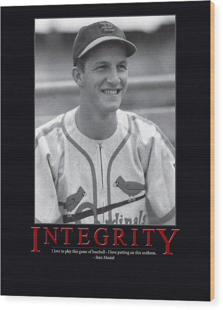 Integrity Stan Musial Wood Print