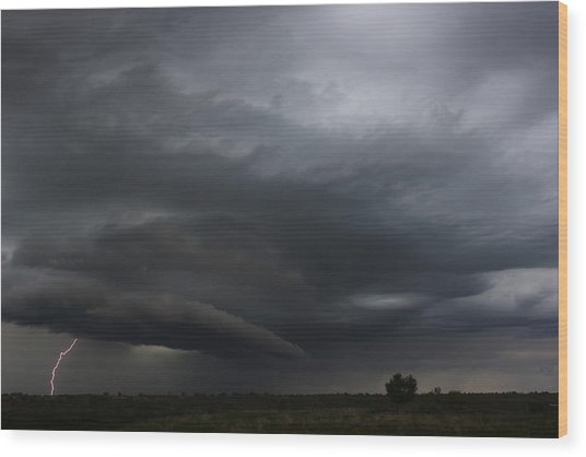 Intense Storm Cell Wood Print