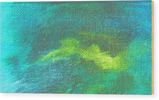 Intensity Aqua Blue Wood Print by L J Smith